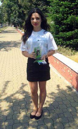 <p>Hostessa na promocji banku BGŻ BNP Paribas</p>