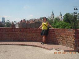 Na jednym z murów Barbakanu. ;-)