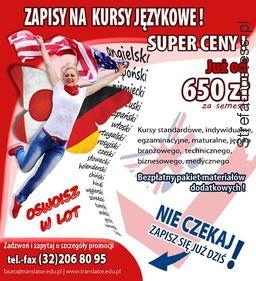 <p>Sesja komercyjna Szkoły Językowej TRANSLATOR w Katowicach</p>